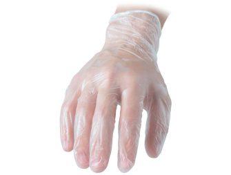 guanti in vinile senza polvere